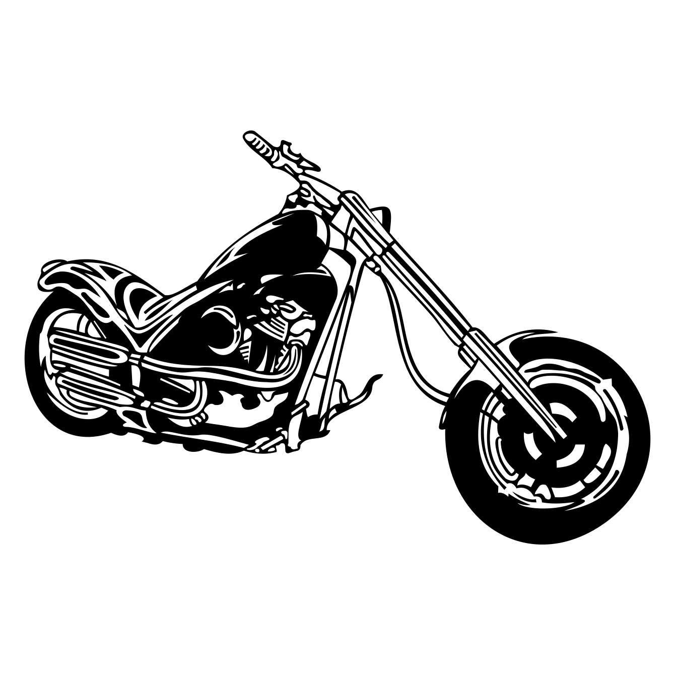 Motorcycle Chopper Graphics Svg Dxf Eps Cdr Ai