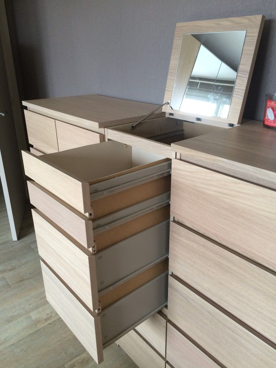 My Wife And I Just Hacked The Ikea Malm Chest Of Drawers We Converted It Into A Disguised Malm Laundry Basket We Wanted A Clean Bedroom Were Struggling