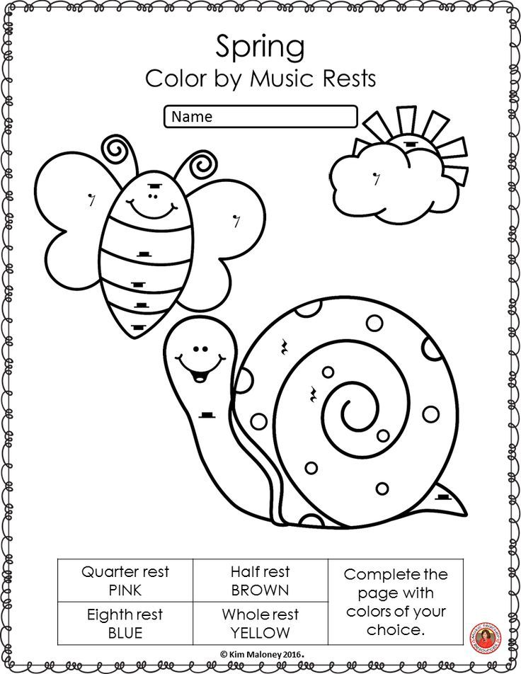 Music Coloring Pages: 26 Spring Music Coloring Sheets