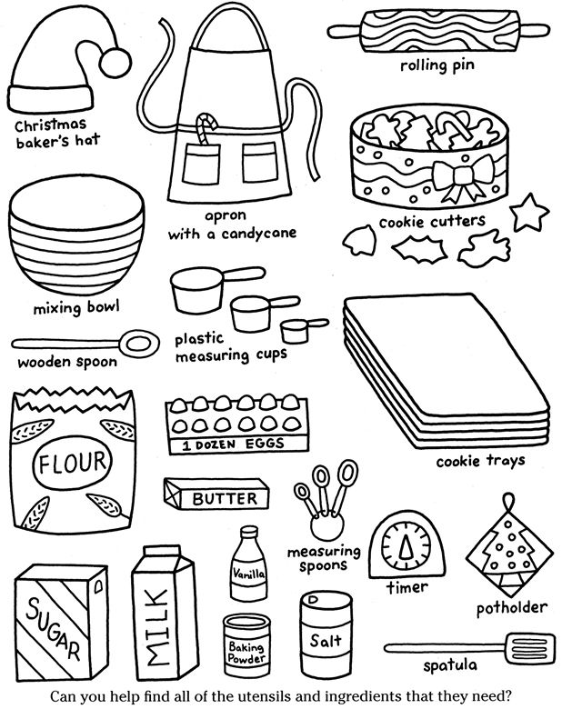 Color & Cook CHRISTMAS COOKIES Dover Publications