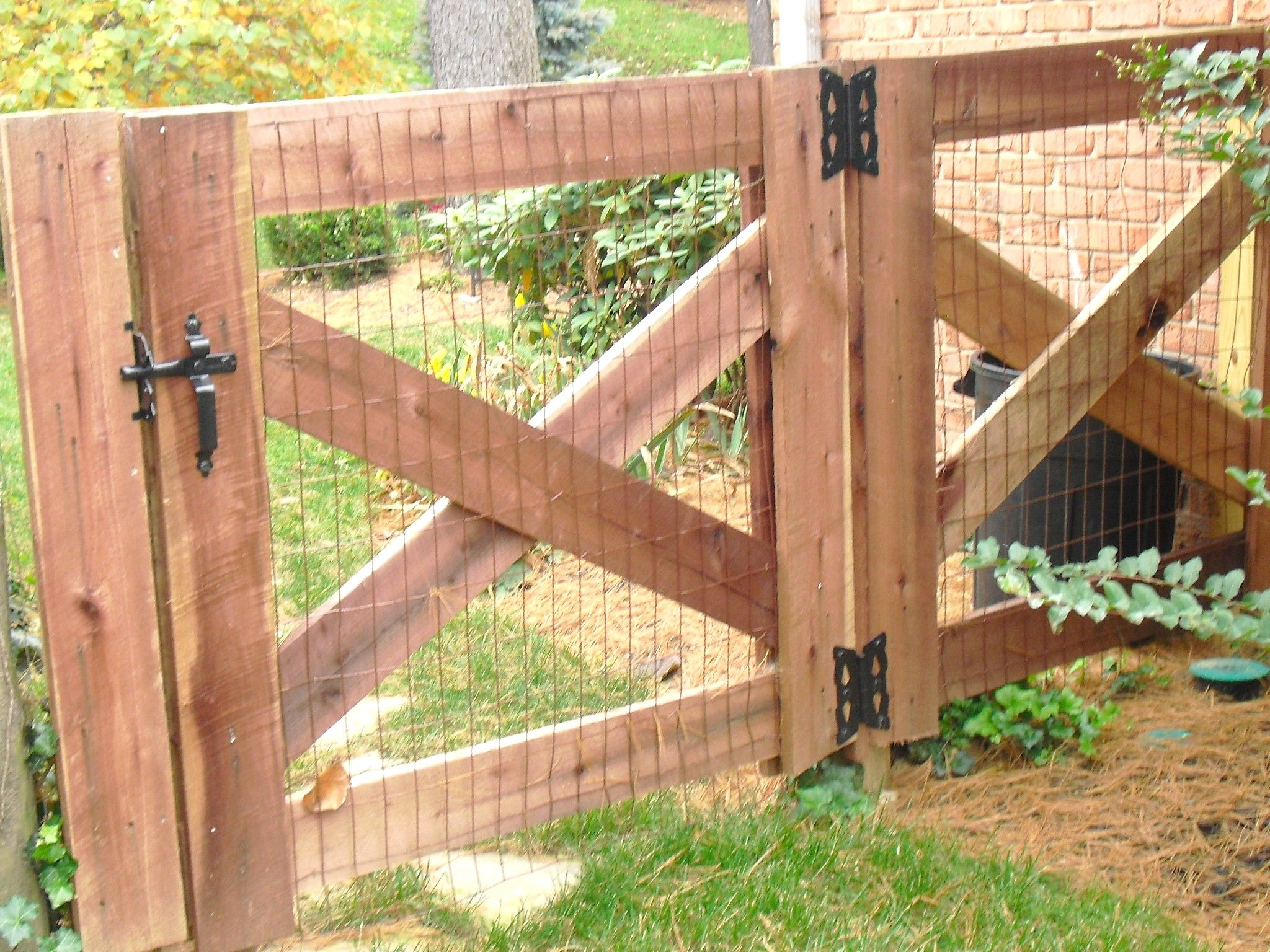 Fencing Door & Driveway Fence Plans 4 Foot Double Gate