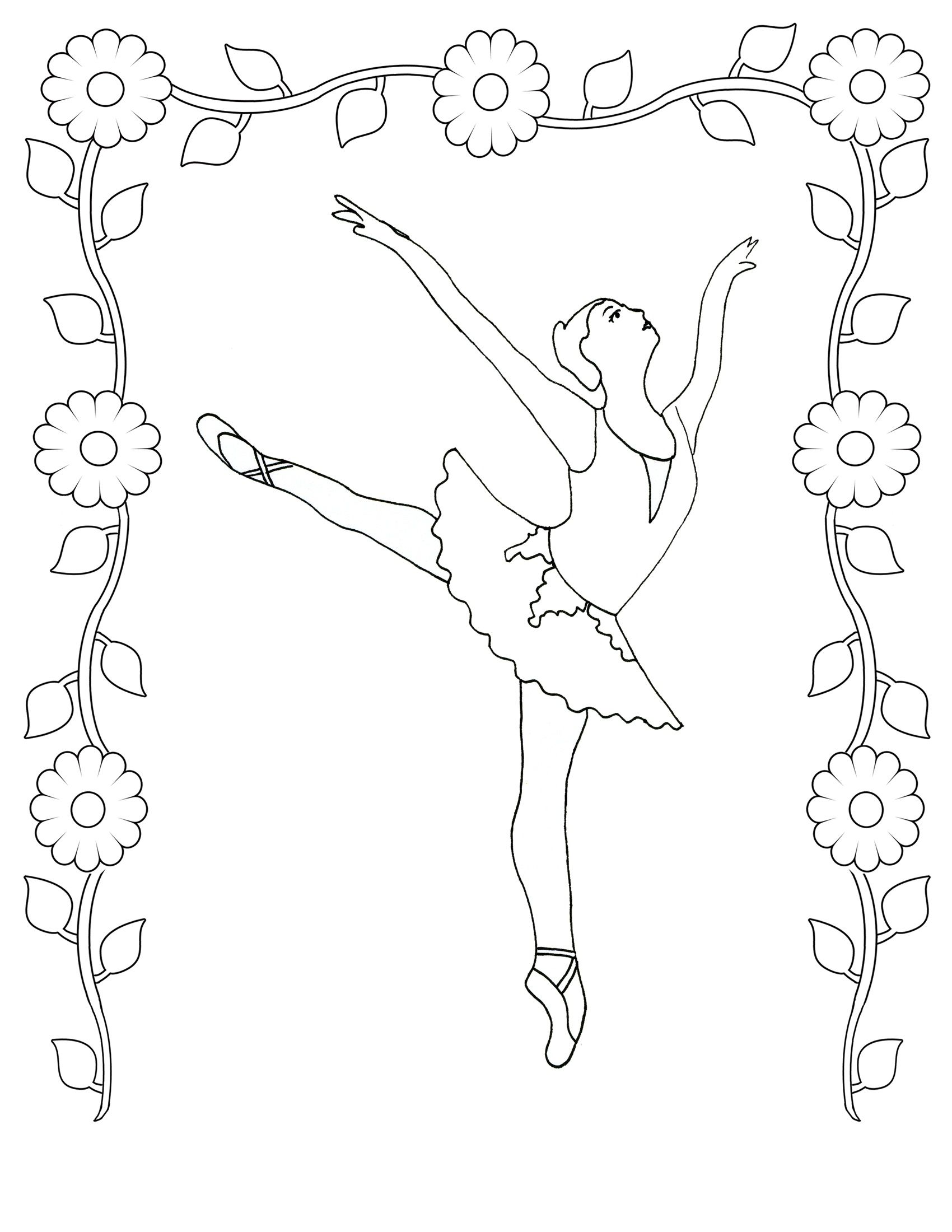 Coloring Pages Realistic Ballet Colouring Pages Angelina