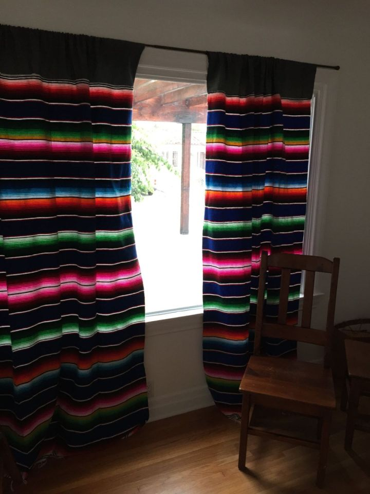 mexican blanket curtains | Gopelling.net