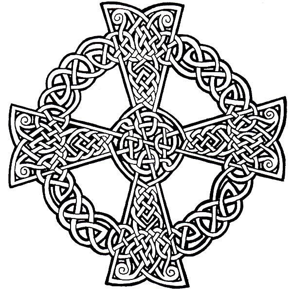 Scottish Gaelic Celtic Cross Coloring Pages Scottish