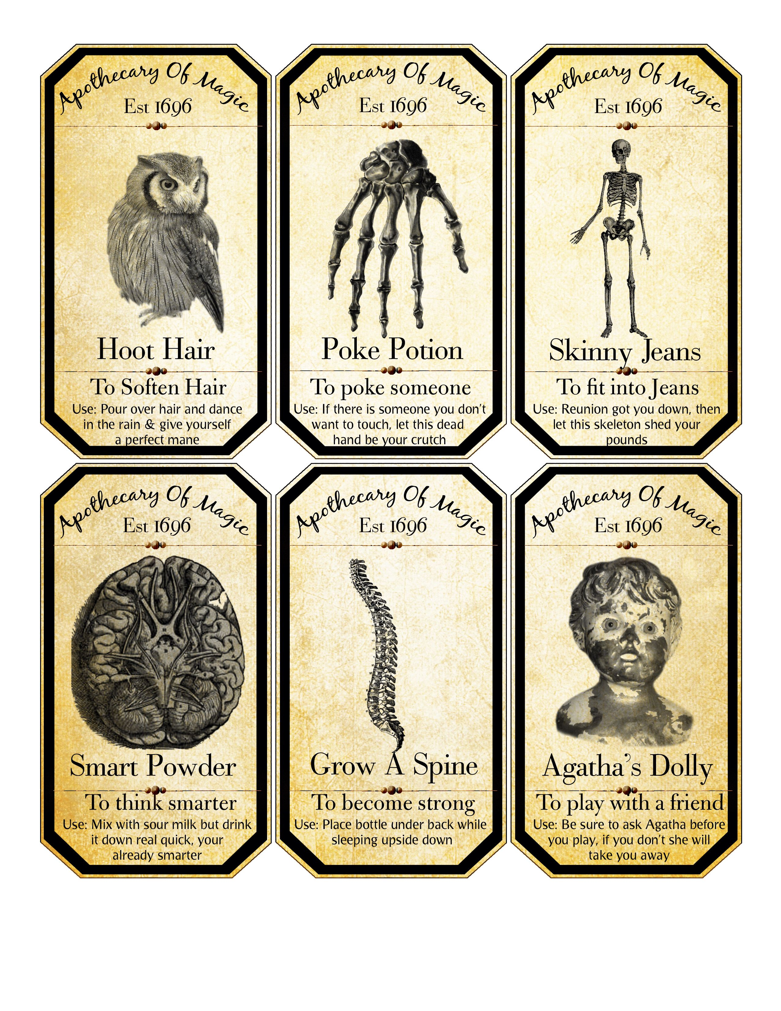 Large Apothecary Labels 3