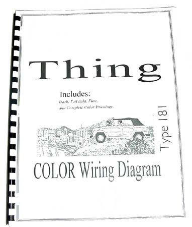 Volkswagen Thing Type 181 Color Wiring Diagram Booklet