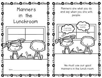 {Lunchroom Manners} Social Studies Emergent Reader