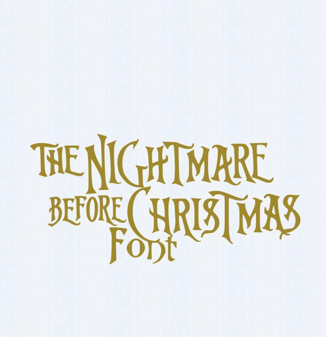 Download Nightmare before Christmas SVG Font, Digital Alphabet, SVG ...