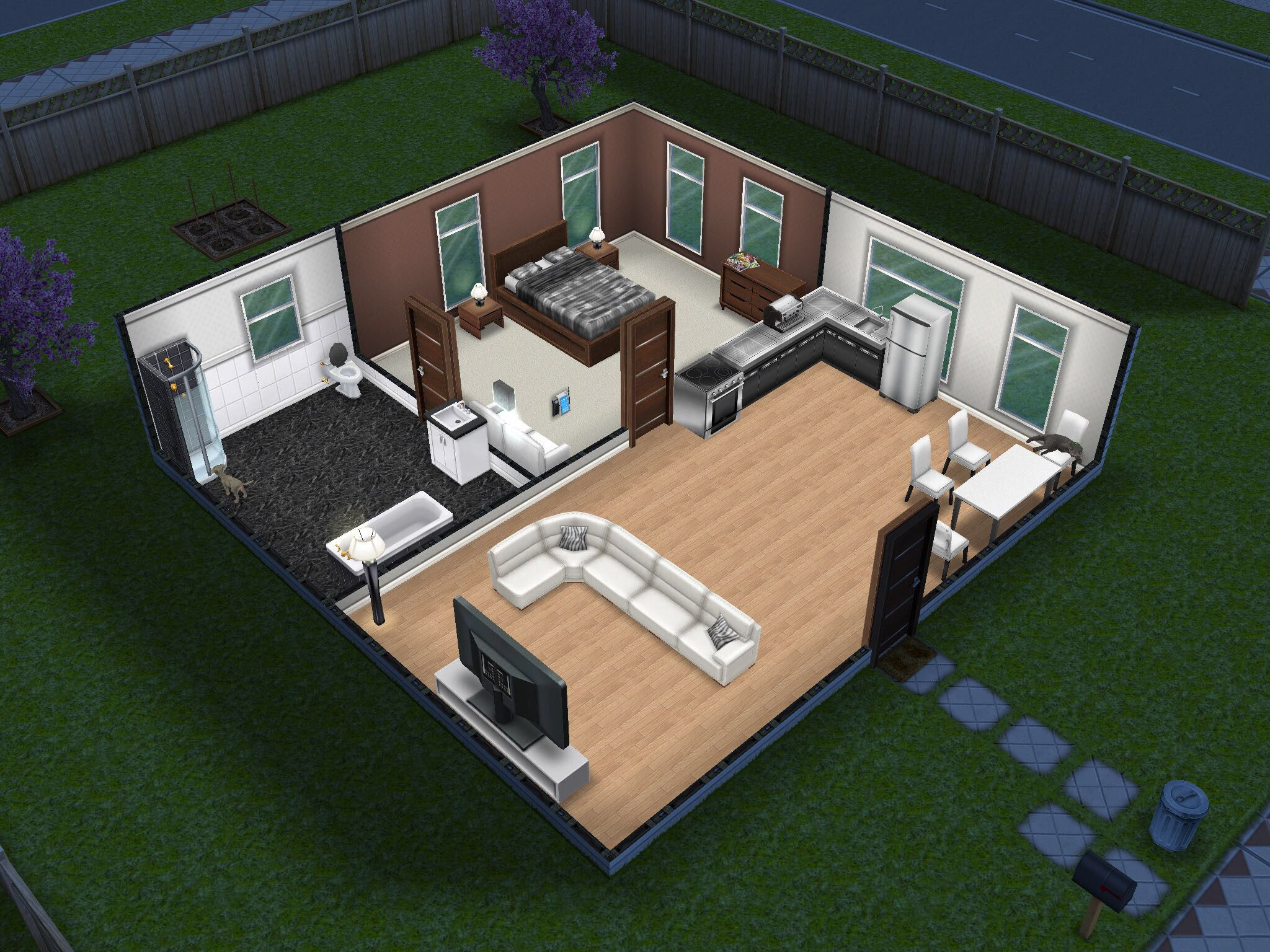 Small And Simple Sims Freeplay House Sims Pinterest Sims And