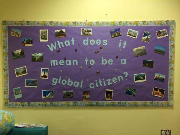 Global Citizenship Bulletin Board Adventurous School