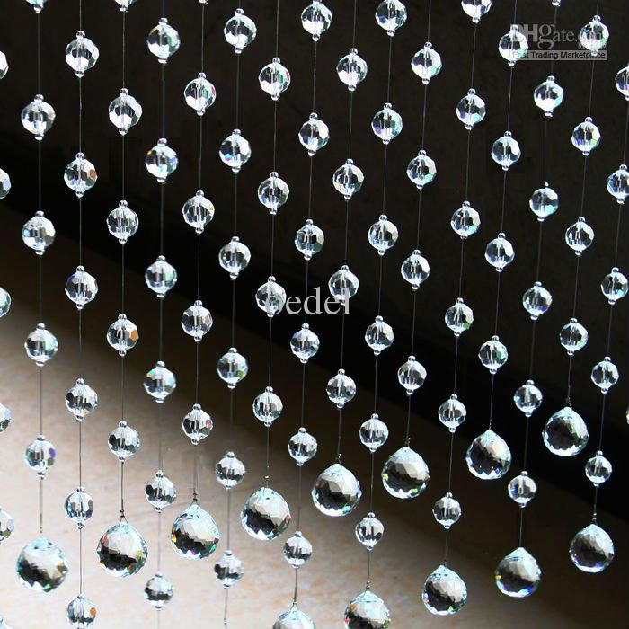 20 StrandsClear Crystal Strands Crystal Beaded Curtain Door