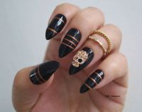 Black Stiletto Nails Halloween nails Fake by ...