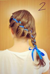 hair braid with ribbon ways to wear a hair ribbon long ...