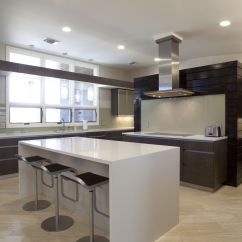 Island In The Kitchen Best Drain Cleaner For Sink White Quartz Countertop Showing Luxurious