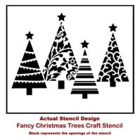 Stenciling Quick and Easy Christmas Wall Decor | Tree ...