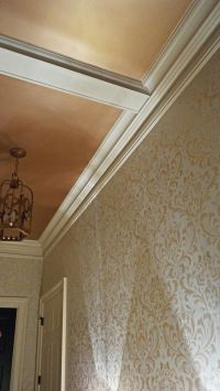 Pale Gold Metallic Paint on Ceiling and Walls | Modern ...