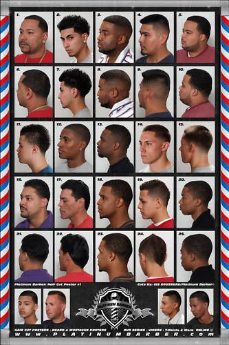 Black Men Hairstyles Chart FADESinCUts Pinterest Hairstyles