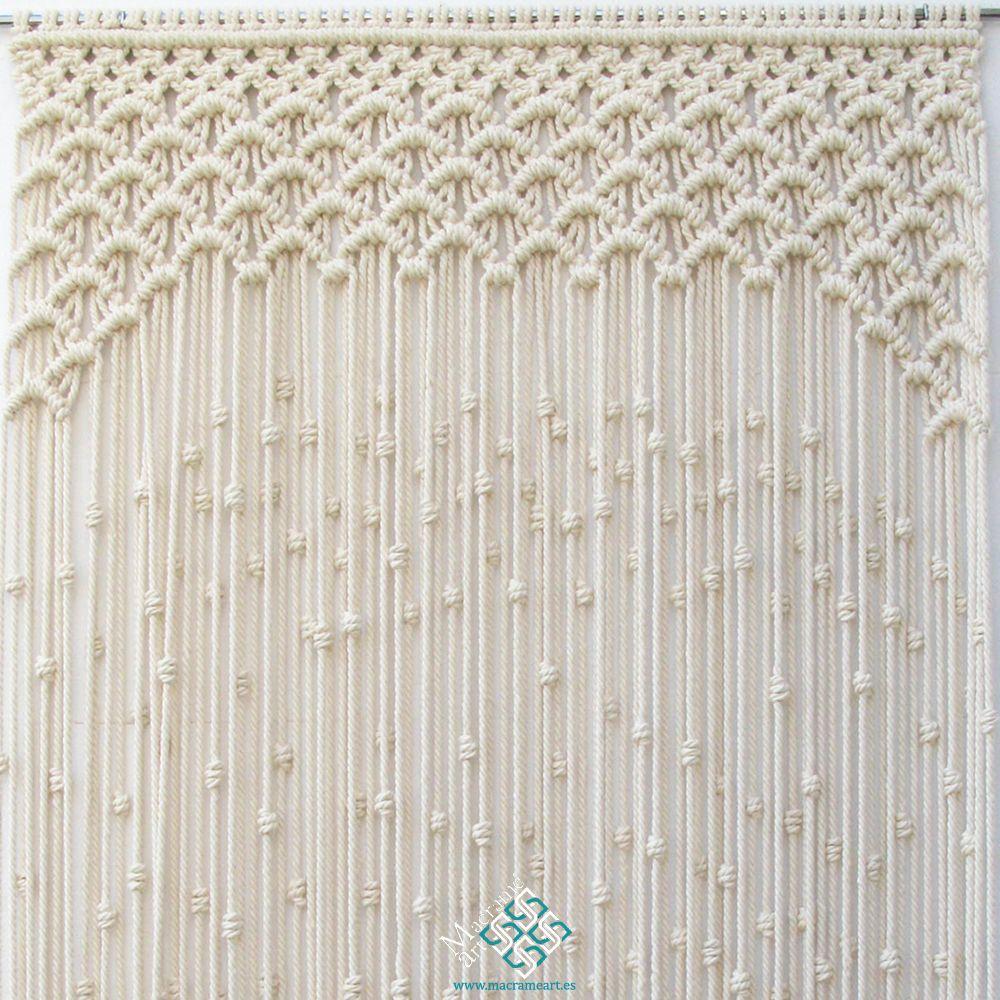 Cortina de macram modelo ondas Puedo hacer la cortina de