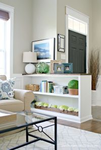 Finished Half Wall Bookcase! | Half walls, Walls and ...