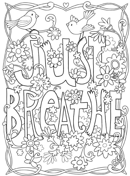 #Inkspirations #InTheGarden Just Breathe. #Inspirational #