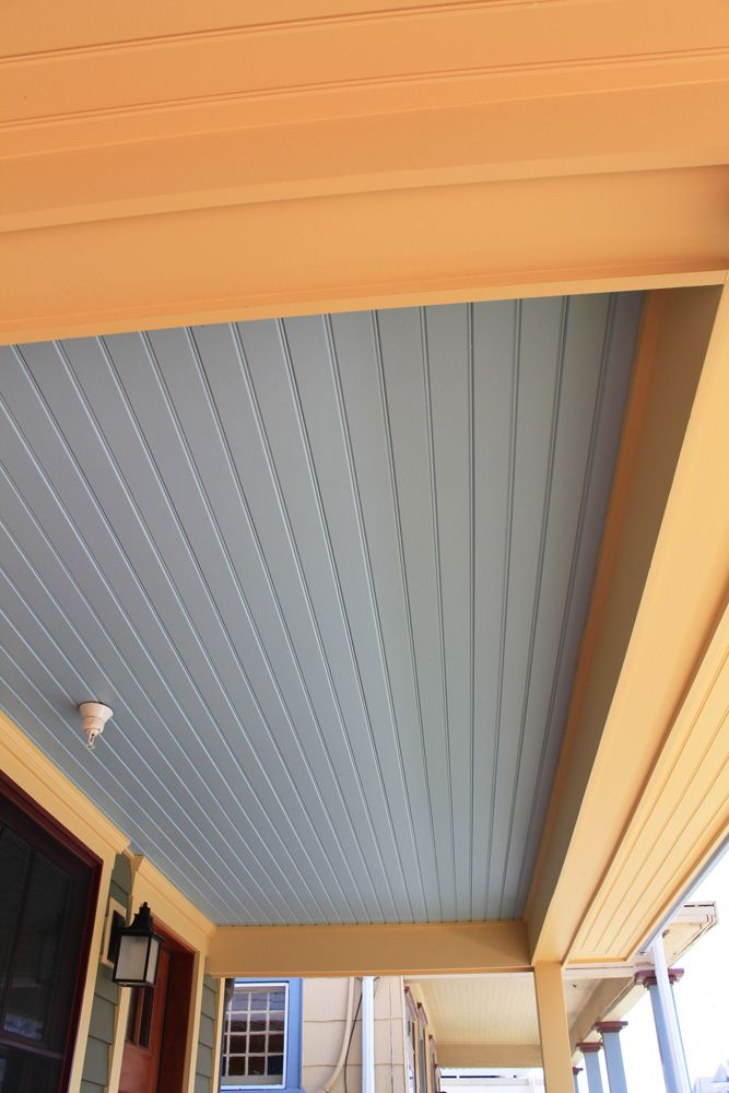 PVC beadboard for porch ceiling