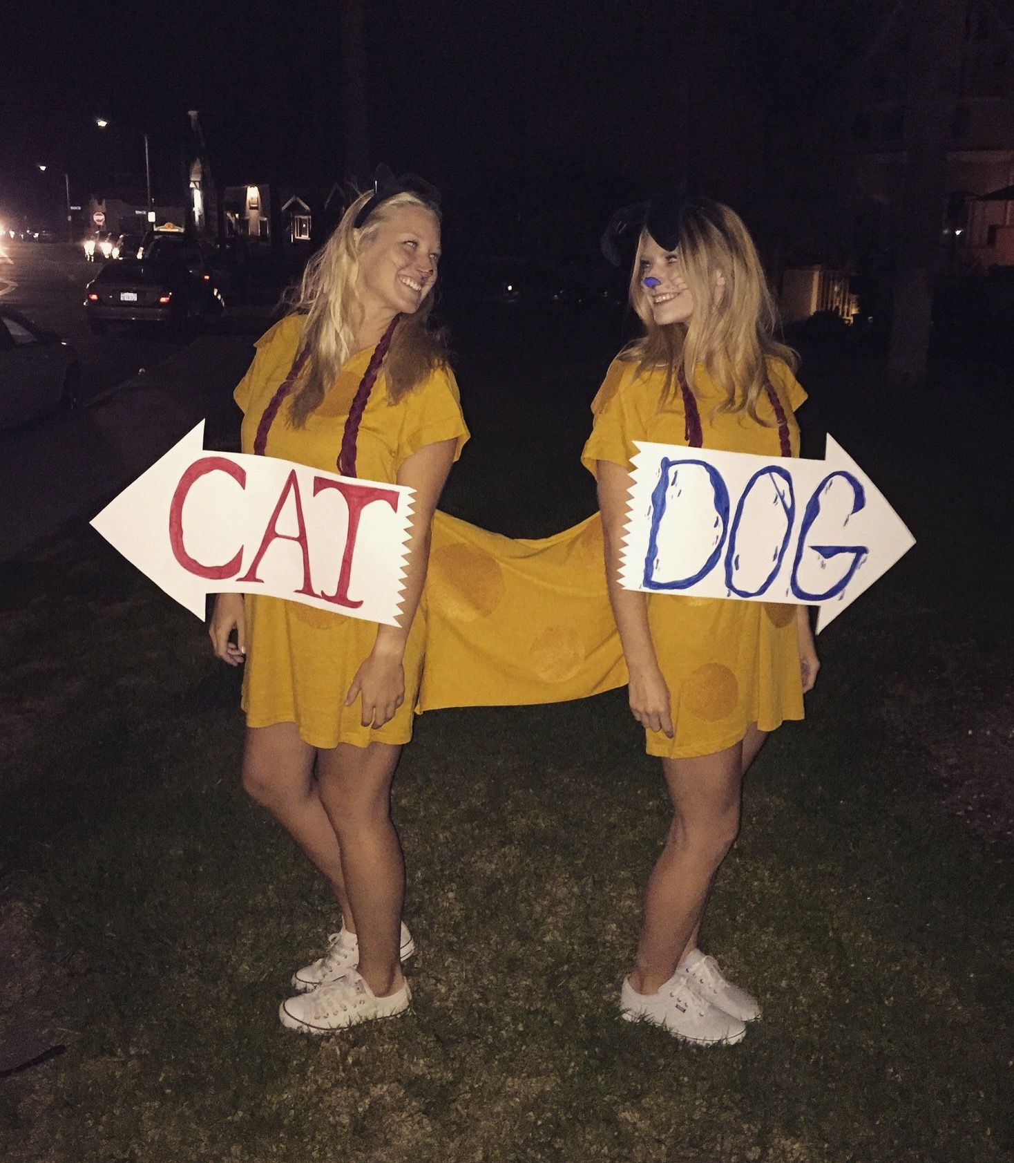 Our CatDog costume!
