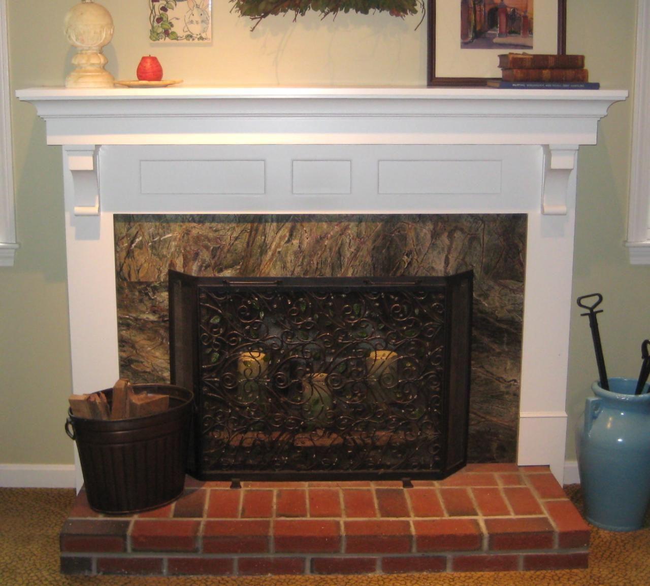 Brick Fireplace Decorating Ideas Surround Design Ideas Interior