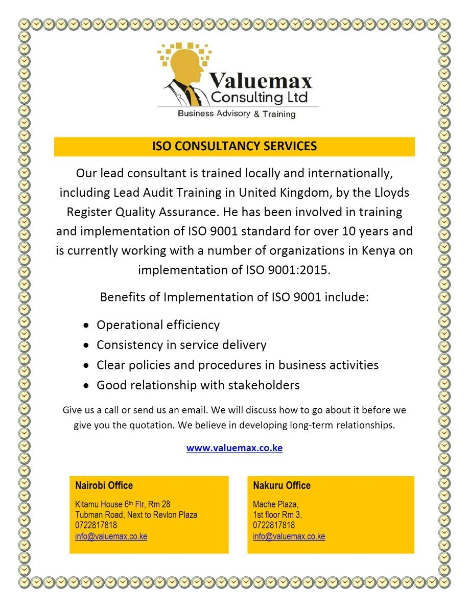 Find This Pin And More On Iso 9001:2015 Consulting Services By Valuemax.