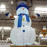Big lighted Christmas snowman decorations | LED Snowmen ...