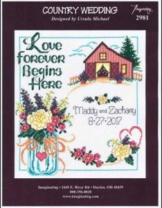 Country wedding counted cross stitch pattern chart also rh pinterest