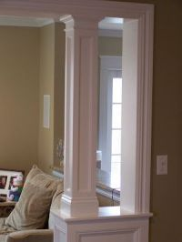 Knee wall and column between kitchen and family room ...
