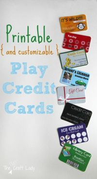 Printable (and Customizable) Play Credit Cards   Plays ...