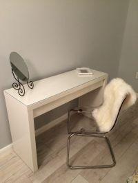 dressing table MALM toaletka IKEA TOBIAS chair sheepskin ...