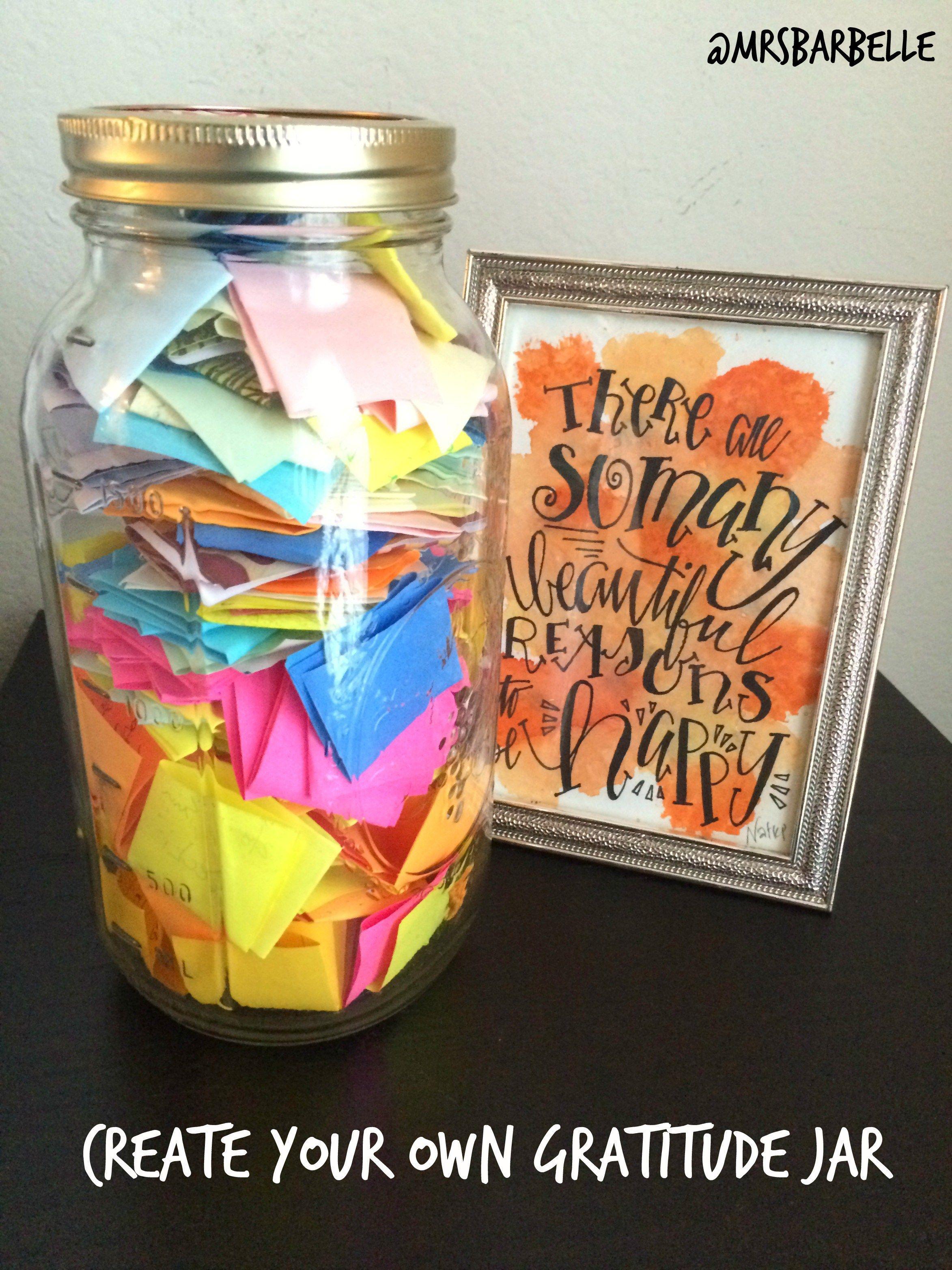 Create Your Own Gratitude Jar Mrsbarbelle