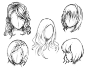 manga hair reference sheet 1