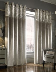 Buy kylie minogue at home esta lined eyelet curtains silver  cm amara also rh za pinterest