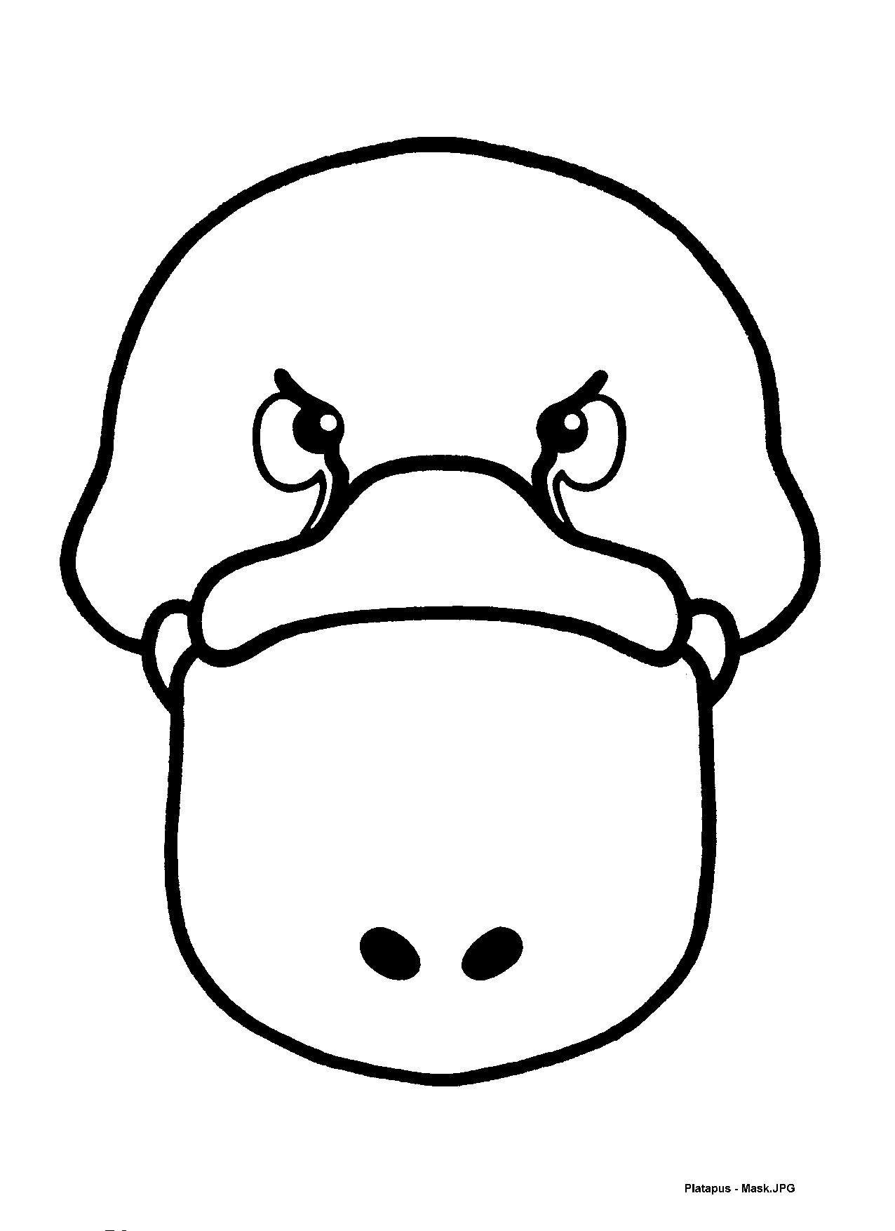 Mask templates for Australian (& other) animals