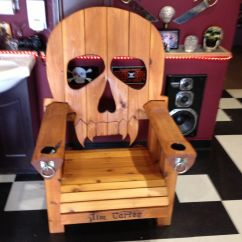 Wooden Skull Chair Covers In Cork Adirondack Made By Lars Stoltz Larshole1