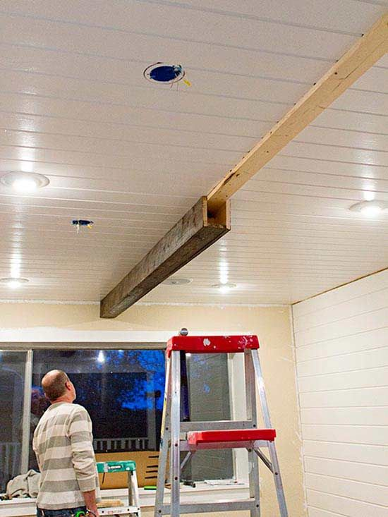how to build ceiling beams