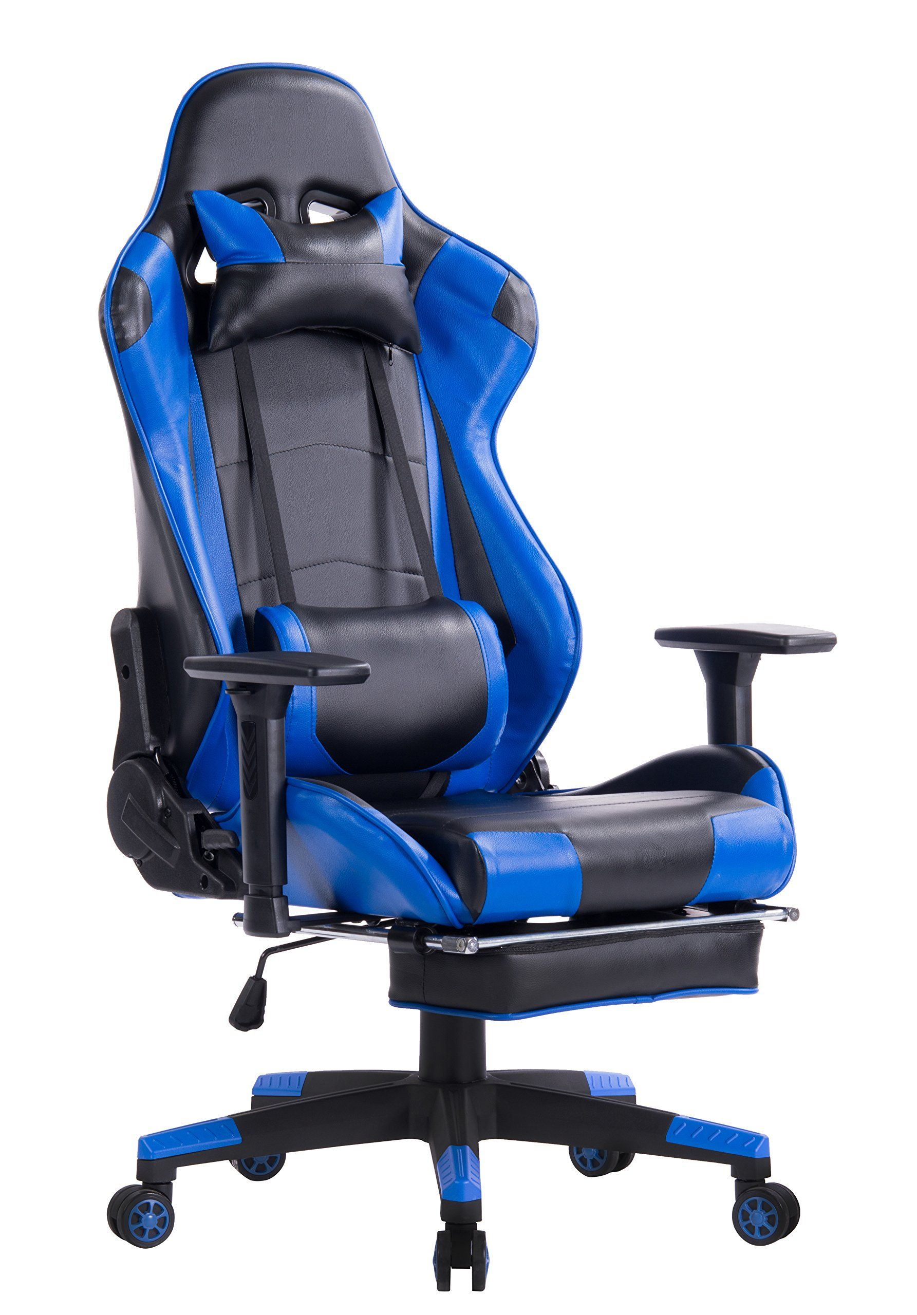 gaming chair with footrest leather swing awesome best lumbar support for office rtty1