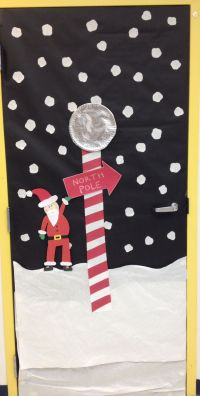North Pole Christmas decorations for doors