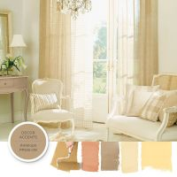 To achieve a French Country style create harmonies of ...