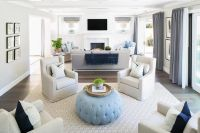 Living Room with Two Sitting Areas, Transitional, Living ...