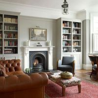 No chimney breast, cupboards unified with moulding | HOME ...