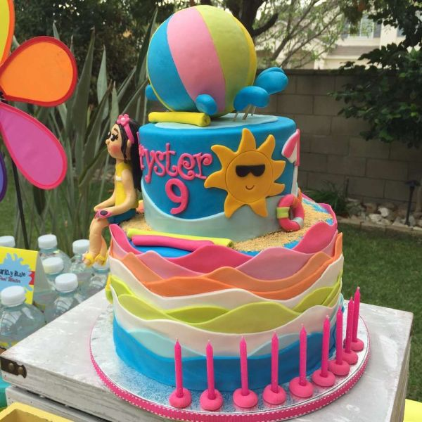 Summer Pool Birthday Party Ideas One Year Old