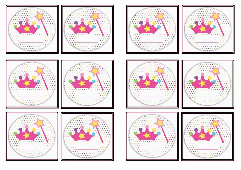 Free Printable Princess Themed Name Tags Themed Name Tags