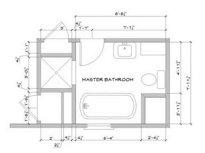 Master Bathroom Layouts Inspiring Floor Plan ~ http