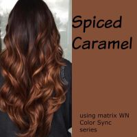 Spiced Carmel hair color