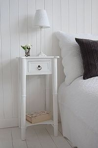 Tall, narrow bedside table to go with tall bed. New ...