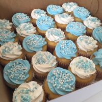 Blue and white baby shower cupcake | All things cake ...